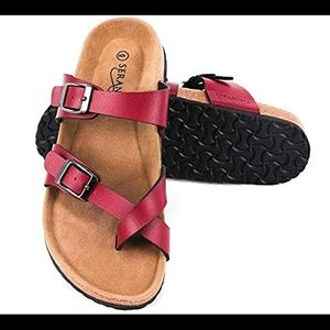 Seranoma Toe Ring Cork Sandal